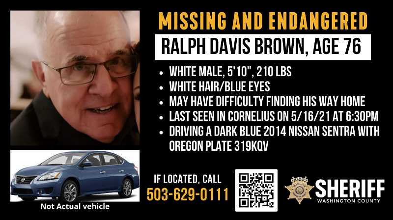 COURTESY PHOTO - The search continues for Ralph Brown.