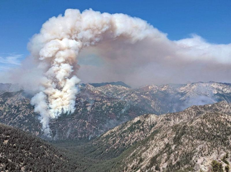 COURTESY PHOTO: U.S. FOREST SERVICE  - The Granite Gulch fire in the Eagle Cap Wilderness on the Wallowa-Whitman National Forest in 2019.