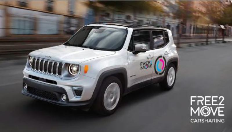 COURTESY FREE2MOVE - An example of a Free2Move Jeep available in Portland.