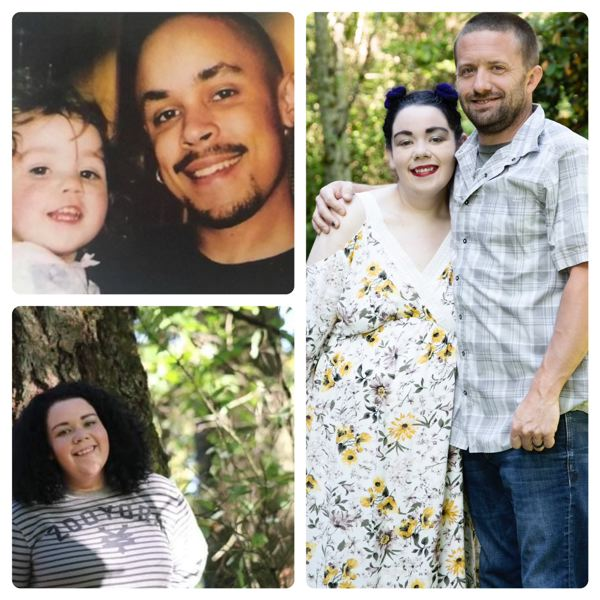 FAMILY PHOTOS - Concrete contractor Chris Collins shared photos of his daughter, Akaisha Blair Karen Collins, whose deceased biological father was Black.