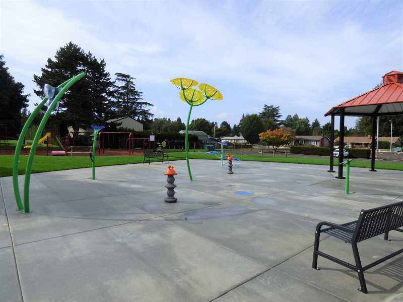 COURTESY PHOTO: CITY OF CANBY - Canby's first splash pad, located at Maple Street Park, will open June 18.