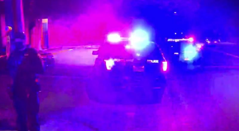 COURTESY KOIN 6 NEWS - The scene of the late Sunday shooting.