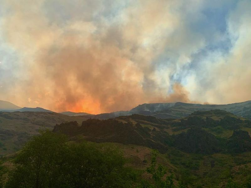 COURTESY PHOTO: OPB, NATIONAL WILDFIRE COORDINATING GROUP - A view of the Joseph Canyon fire on June 5, 2021.