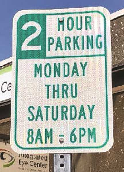 COURTESY PHOTO: CITY OF CANBY - The City of Canby is adding signage to parking areas around the downtown area.