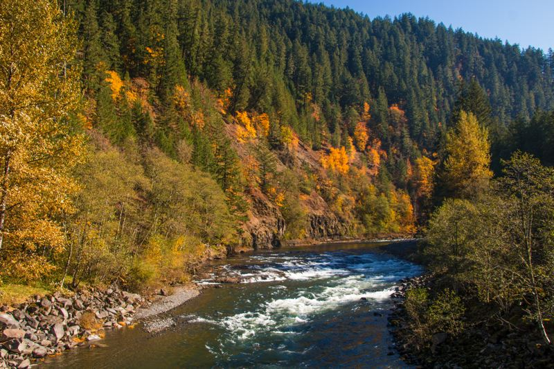 COURTESY PHOTO - Though the upper part of the Clackamas River is closed as a result of the Riverside Fire, the lower section is open for recreation.