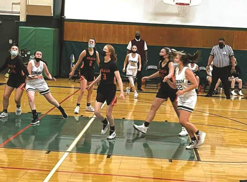 COURTESY PHOTO - The Molalla girls basketball team dropped a 56-46 decision to Madras on June 7.