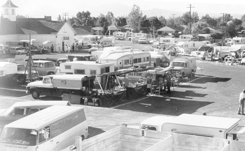 PHOTO COURTESY OF BOWMAN MUSEUM  - The photo shown above was taken in the mid-1960s, shortly after the annual Rockhound Pow Wow began in Prineville. It was originally 10 days long, with many events taking place. The event has always been held at the Crook County Fairgrounds.
