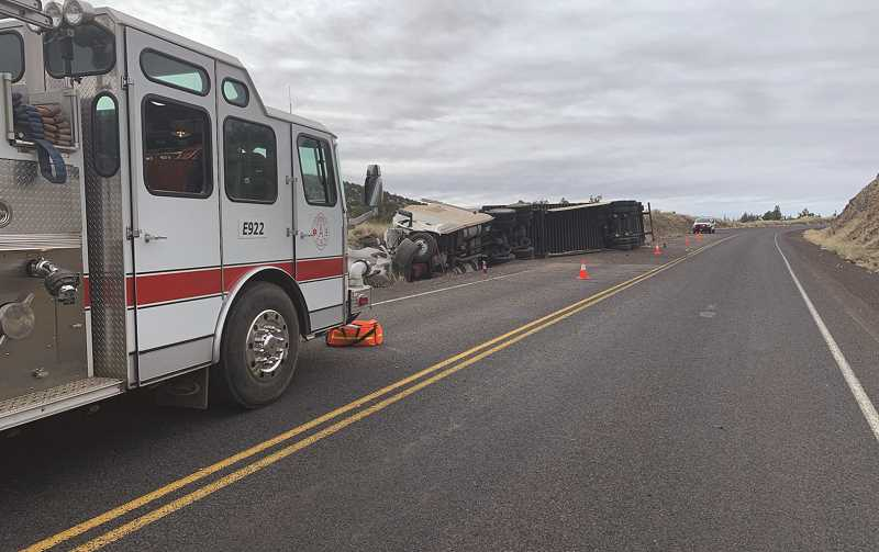 PHOTO COURTESY OF CROOK COUNTY SHERIFF'S OFFICE  - The crash occurred near milepost 22 around 7:30 a.m. Monday morning.