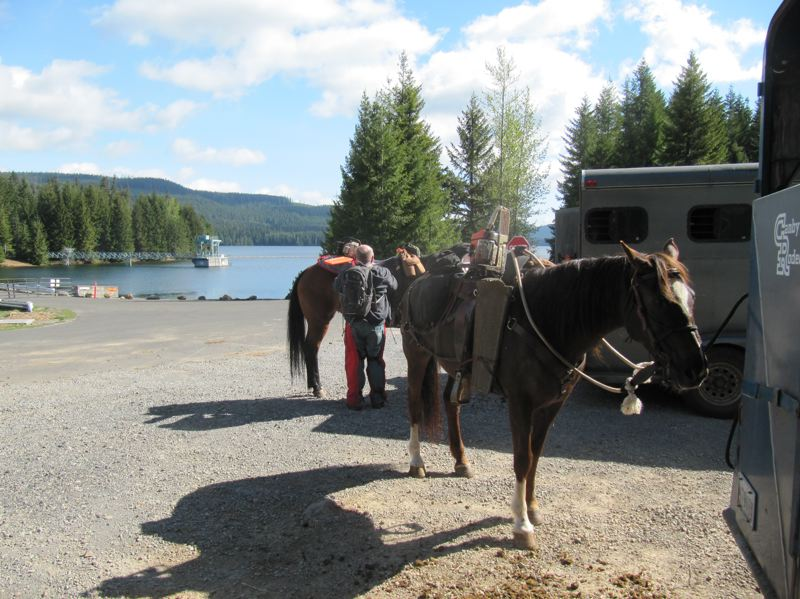 COURTESY PHOTO - Members of the Territorial Riders Back Country Horsemen of Oregon camped at equestrian sites near Timothy Lake as they completed work in the area.