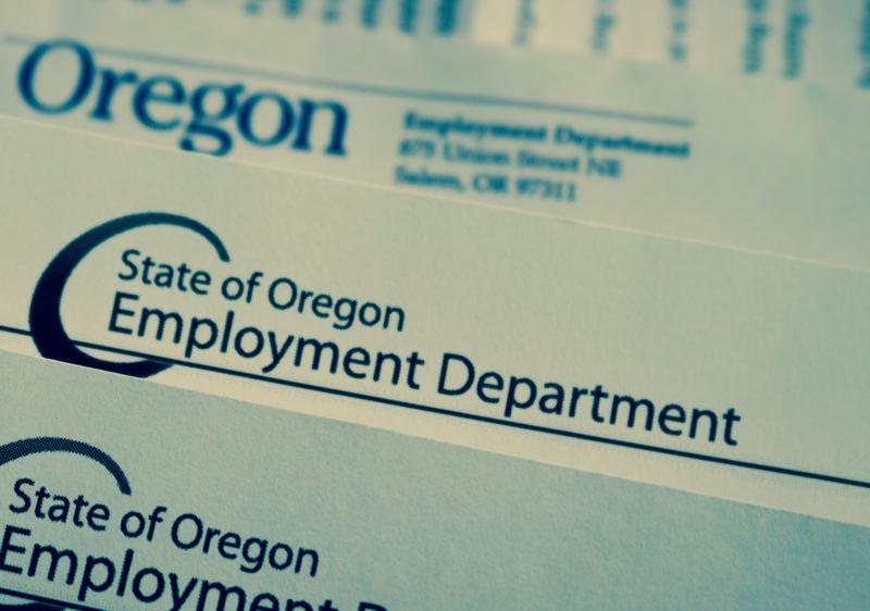 PMG PHOTO: ZANE SPARLING - Paperwork from the Oregon Employment Department is shown here.