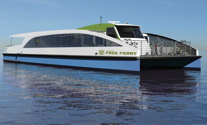 COURTESY: ALL AMERICAN MARINE - Portland needs low draft ferries to get under the Steel Bridge because Willamette River levels vary by 26 feet over the year.