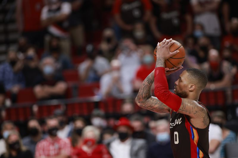 COURTESY PHOTO: BRUCE ELY/TRAIL BLAZERS - Damian Lillard and the Trail Blazers have a new home on television, ROOT Sports.