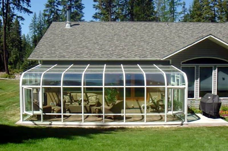 COURTESY PHOTO:  GLOBAL SOLARIUM - A straight eave sunroom from Global Solarium will provide outdoor atmosphere without weather worries.