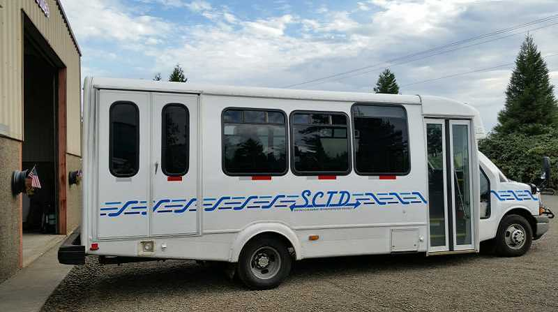 PMG FILE PHOTO - An SCTD bus is ready to hit the road from Molalla.