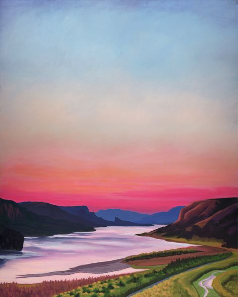 COURTESY PHOTO  - Catherine Freshley's painting 'View from Crown Point.'