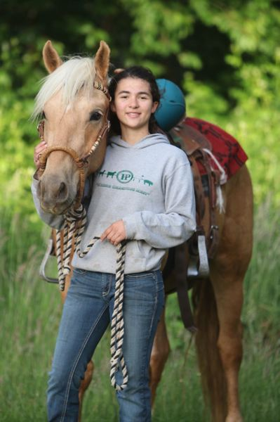 COURTESY PHOTO - Winter Palmateer is training Rico, a three-year-old wild mustang.