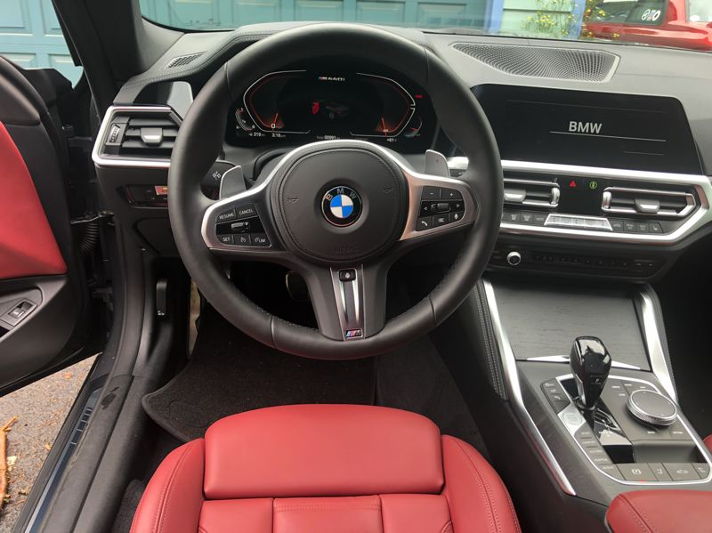 PMG PHOTO: JEFF ZURSCHMEIDE - Inside, the 2021 BMW M440i is very comfortable and outfitted with the highest quality materials.