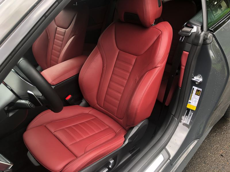 PMG PHOTO: JEFF ZURSCHMEIDE - BMW offers some of the best automotive seats and the 2021 M440i is no exception.