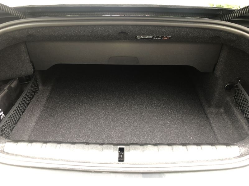 PMG PHOTO: JEFF ZURSCHMEIDE - Cargo space is sufficient for short trips in the 2021 BMW 440i.