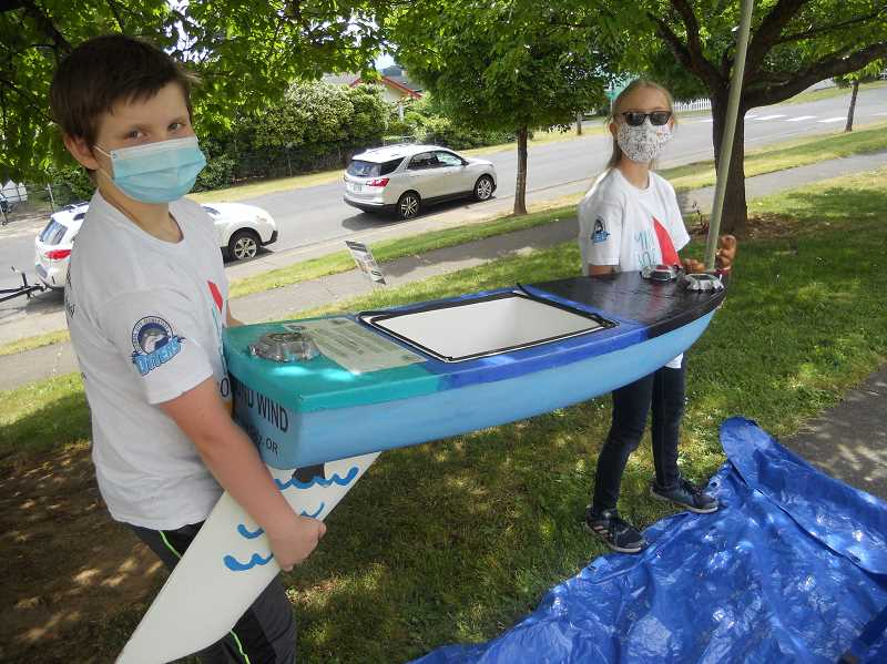 Miniboat officially christened at Columbia City Elementary School