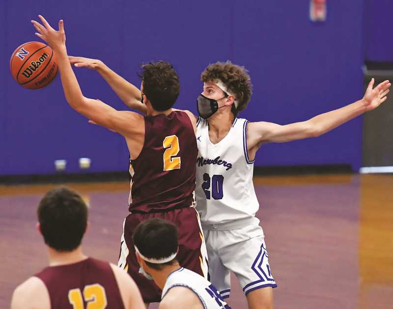 COURTESY PHOTO: DEAN TAKAHASHI - With just a trio of games remaining on its schedule, the NHS boys basketball team has shown itself to be one of the top teams in the Pacific Conference.