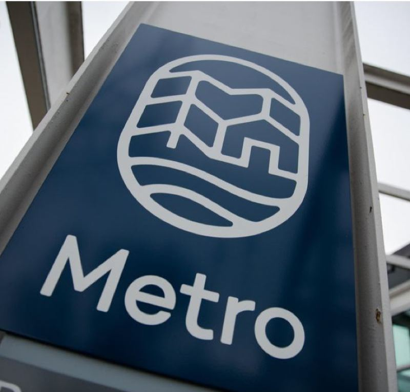 PMG FILE PHOTO - The Metro logo outside the elected regional government's headquarters.