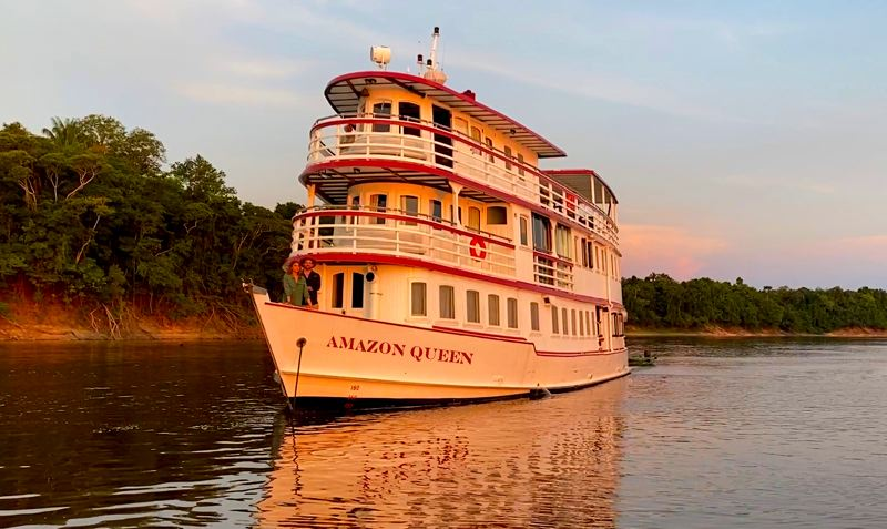COURTESY PHOTO: MARLIN DARRAH - A friend of Marlin Darrah's owns the boat on which much of 'Amazon Queen' was filmed.