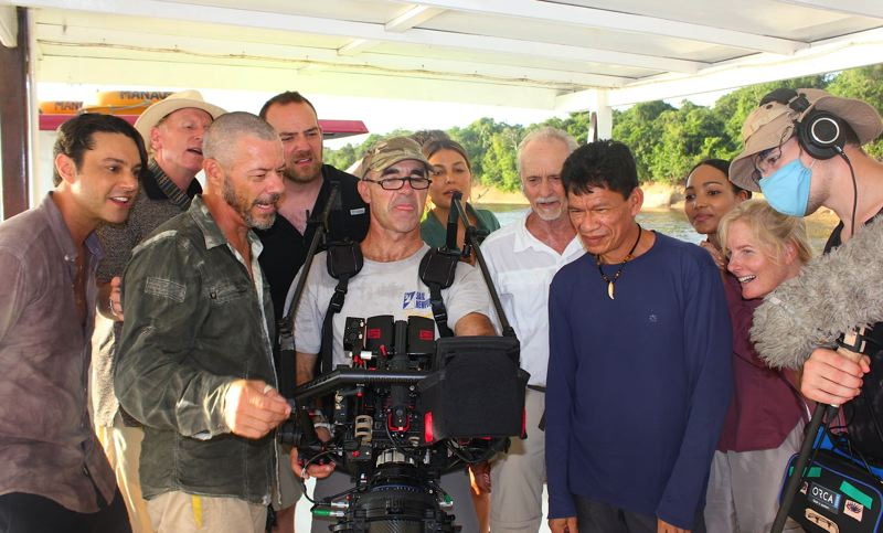 COURTESY PHOTO: MARLIN DARRAH - Cast and crew of 'Amazon Queen' check out some shots of the movie.