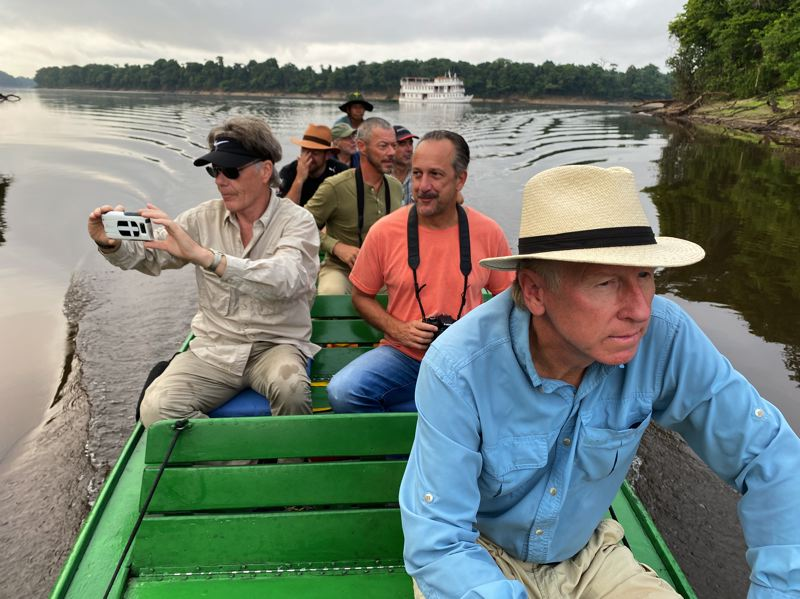 COURTESY PHOTO: MARLIN DARRAH - Marlin Darrah (front) and others scout out shooting locations for 'Amazon Queen.'