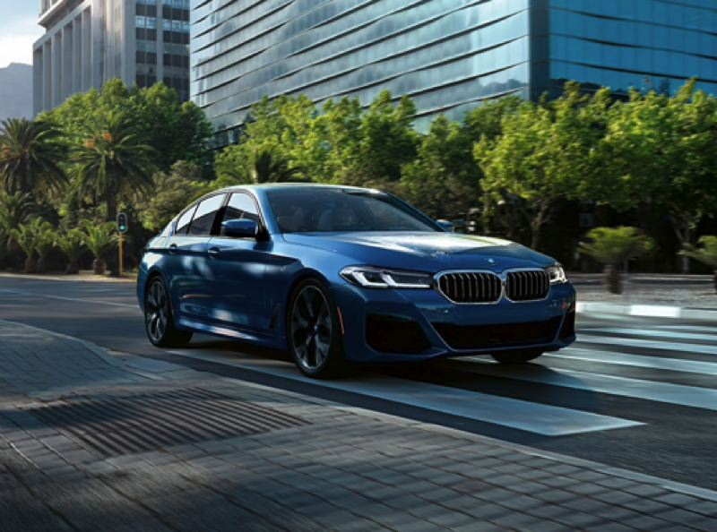 COURTESY BMW USA - The 2021 BMW 530e is a midsize luxury sedan that can go up to 22 miles on electricity alone before switching over fuel-saving hybrid mode. It qualfies for federal and state financial incentives.