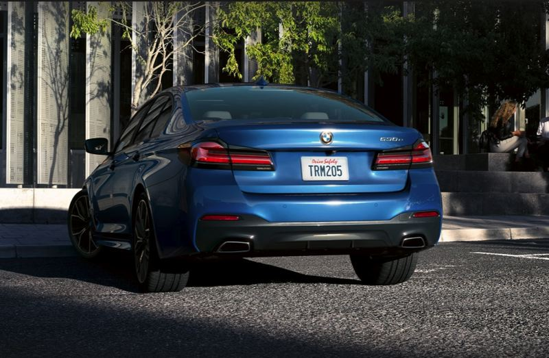 COURTESY BMW USA - The optional M Package includes larger brakes and sporty trim, inlcuding dual chrome exhaust tips.