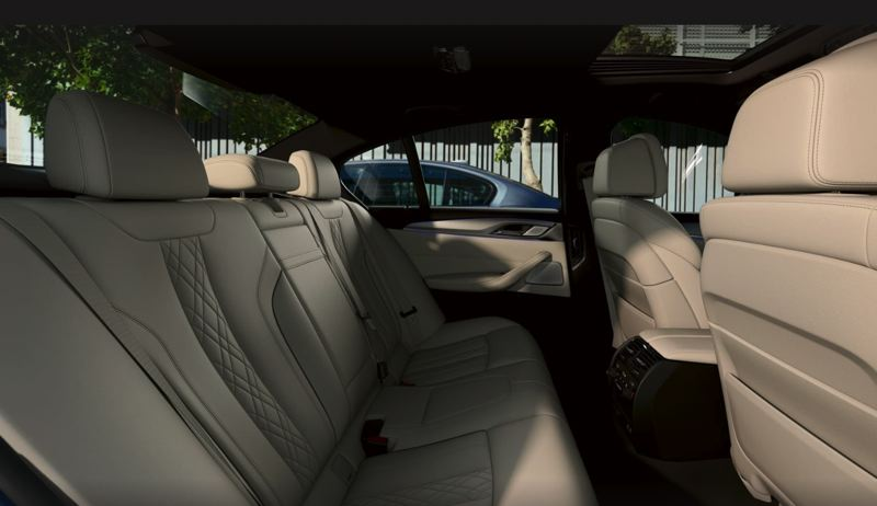COURTESY BMW USA - There is a tremendous amount of rear seat room in the 2021 BMW 530e.