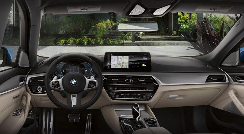 COURTESY BMW USA - The interior of the 2021 BMW 530e is roomy and loaded with the latest automotive technologies.