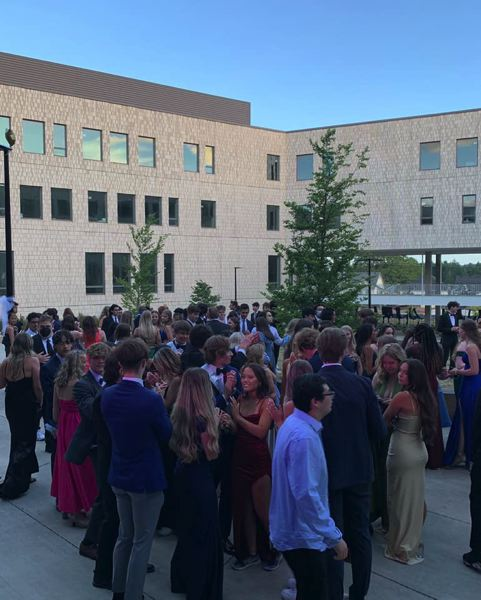 COURTESY PHOTO: MOUNTAINSIDE HIGH SCHOOL - Mountainside High School held its first-ever senior prom on Saturday, June 5, in the school courtyard.