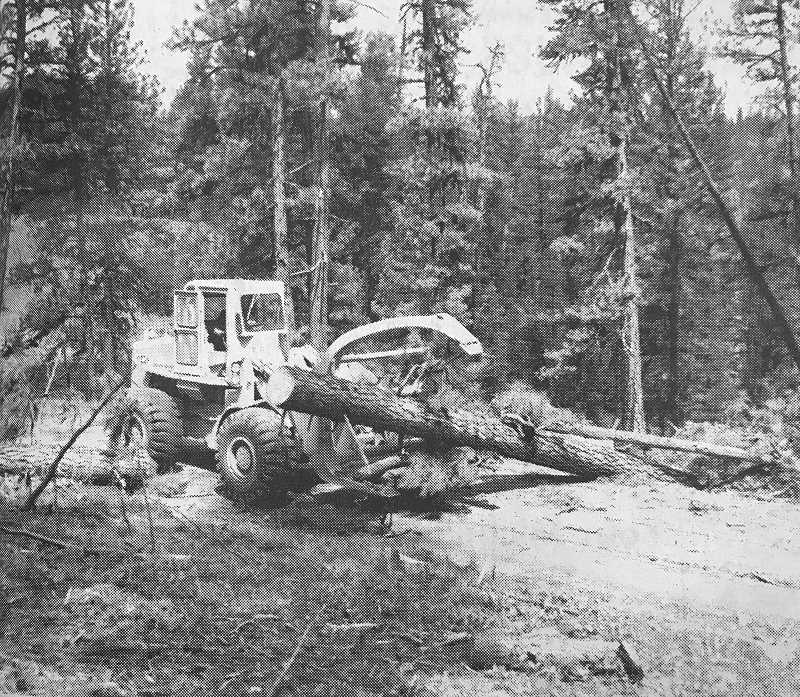 CENTRAL OREGONIAN - June 10, 1971: Crews were busy in Ochoco National Forest last week as cleanup operations got underway on the major roads. By week's end, most roads had been cleared of the debris, which came as the result of a windstorm May 21.  The blowdown was not as severe as first estimated; approximately 30 million board feet of timber were uprooted. Most will be reclaimed in salvage operations, which will get underway soon.