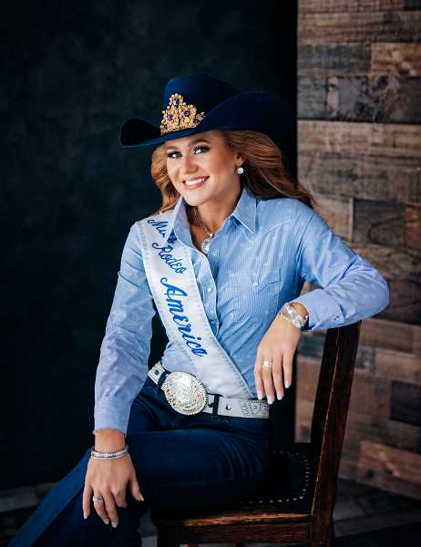 PHOTO SUBMITTED BY MISS RODEO AMERICA  - Miss Rodeo America 2020-2021 Jordan Tierney will join the Crooked River Roundup festivities next week.