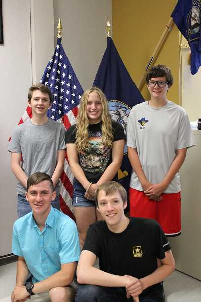 SUBMITTED BY SCOTT SVOBODA  - Left to right, front row: Daniel Olson and Jonah Bainbridge. Back row: Van Williams, Josephine Kasberger and Benjamin McWilliams.