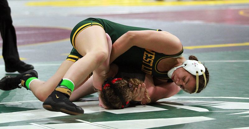 PMG FILE PHOTO - West Linn's Destiny Rodriguez has won six matches against boys this season, all of them by pin.