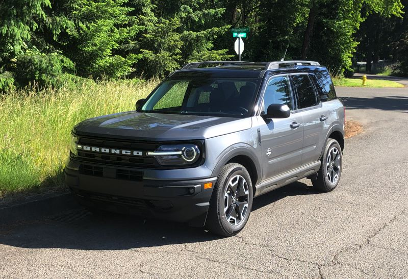 PMG PHOTO: JEFF ZURSCHMEIDE - The looks of the all-new 2021 Broco Sport evokes the boxy profile of Ford's original small SUV, but it is a thoroughkly modern crossover.