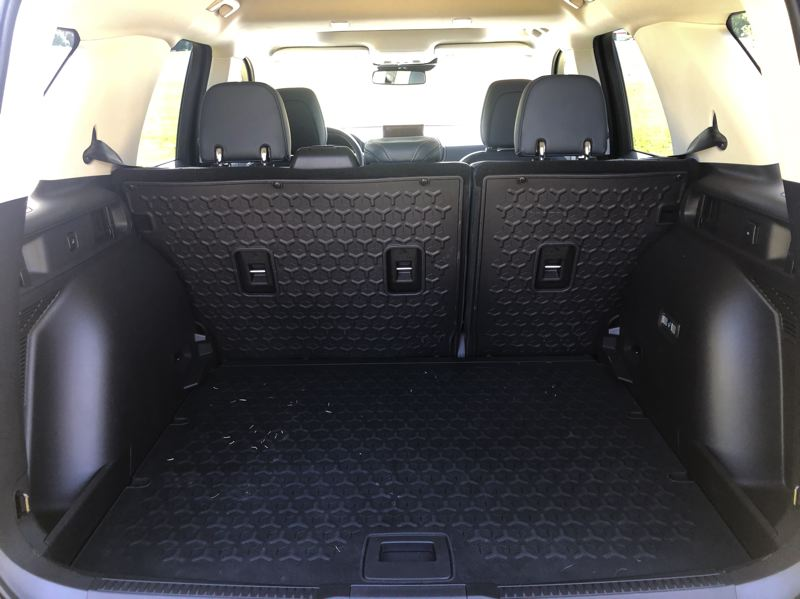 PMG PHOTO: JEFF ZURSCHMEIDE - The cargo space in the 2021 Ford Bronco Sport is designed for recreational uses.