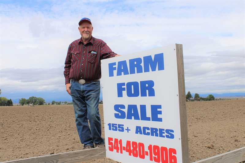PAT KRUIS/MADRAS PIONEER  - Richard Coleman wants to sell these 155 acres north of Madras. He says buyers aren't interested because of the lack of water. The drought, he says, is reducing his property value.