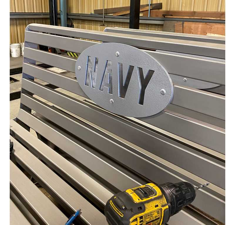 PHOTOS COURTESY OF SHAWN STANFILL   - Swift Steel donated the steel for the eight benches, and Deer Ridge Correctional Institution inmates constructed the benches.