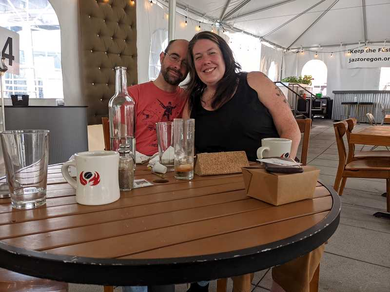 PAMPLIN MEDIA GROUP: JOSEPH GALLIVAN - Jayme Ravenberg and her man, who preferred to remain unnamed, brunching at Botanist at 910 NW 14th Ave, which was the On Deck sports bar until it closed. During COVID they worked from home.