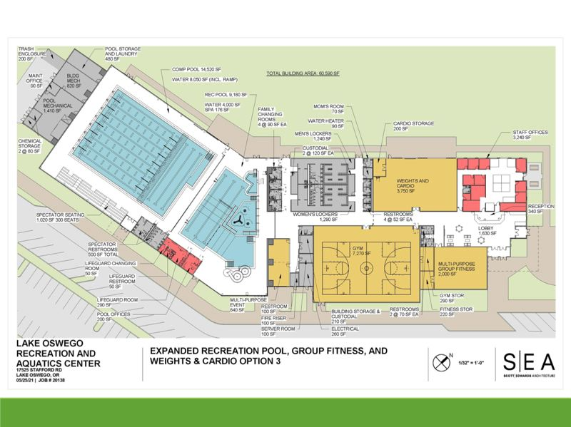 COURTESY GRAPHIC - The City Council is leaning toward a Lake Oswego Recreation and Aquatics Center design that is larger and more expensive.