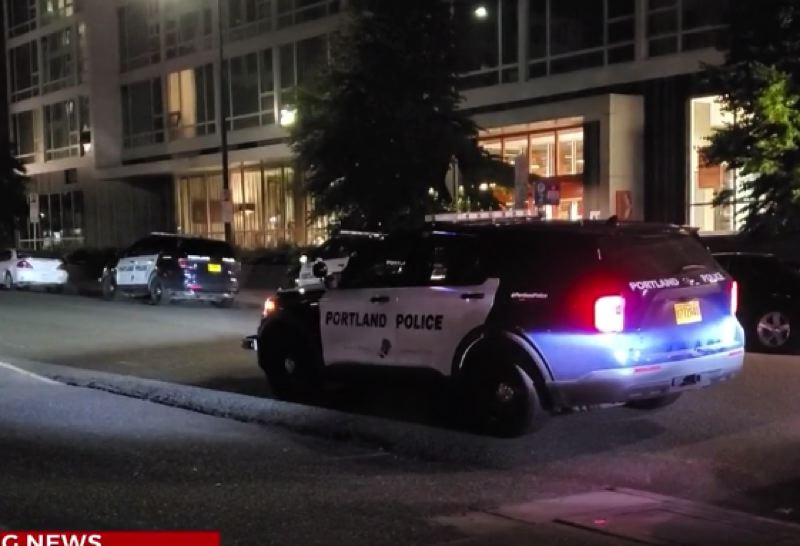 CONTRIBUTED KOIN 6 NEWS - The scene if the Northeast Portland shooting.
