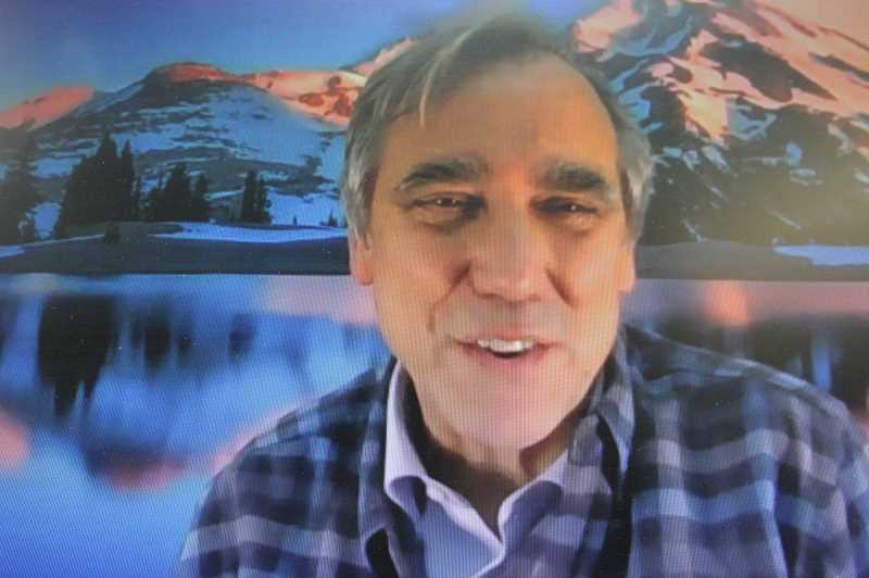 PMG SCREENSHOT: PAT KRUIS - Sen. Jeff Merkley held his annual Jefferson County Town Hall by Zoom Tuesday, June 15. Drought dominated the coversation.