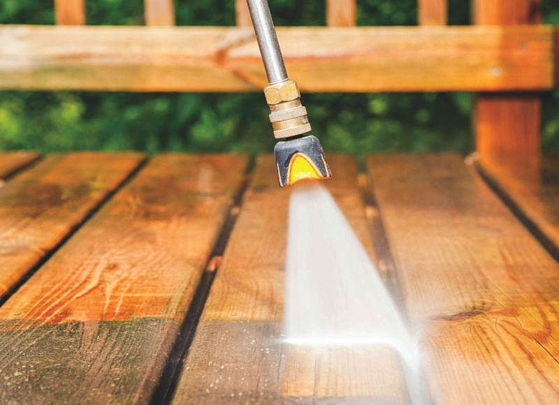 METRO CREATIVE - Powerwashing the exterior of the home can be an effective way to clean it in the spring and fall.