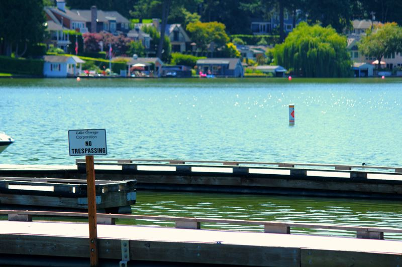 PMG FILE PHOTO - Community groups recently signed a petition calling for public access on Oswego Lake. A lawsuit regarding this issue remains in limbo.