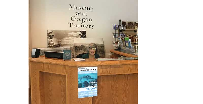 COURTESY PHOTO: CCHS - Franny Heald, who died May 23, often could be found over the years volunteering at the front desk of the Clackamas County Historical Society museum in Oregon City.