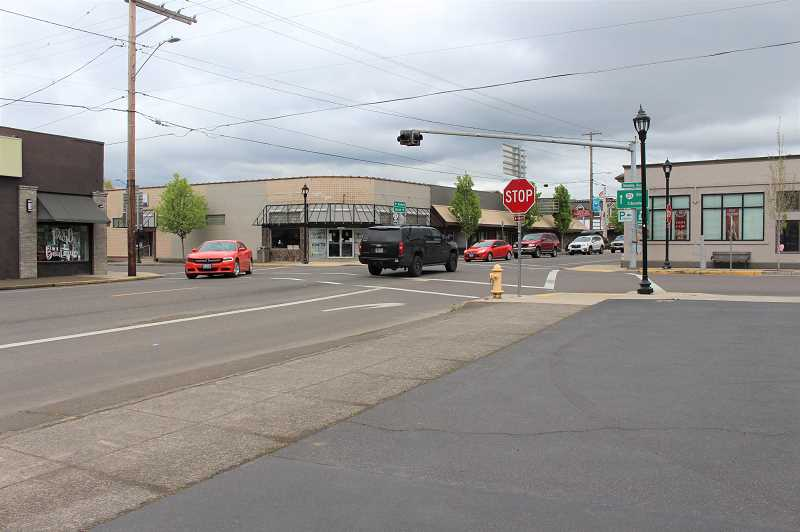 PMG FILE PHOTO: SANDY STOREY - The signal project construction at Molalla Avenue and Highway 211 (Main Street) is pending approval from ODOT for a three-month plan with full closure of Molalla Avenue except for business access and parking.